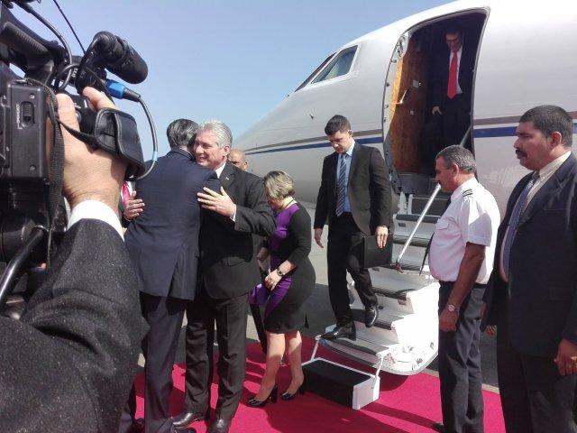 El presidente de la República de Cuba, Miguel Díaz-Canel, arribó la mañana de este miércoles a Venezuela (Foto:  Cancillería @CancilleriaVE)