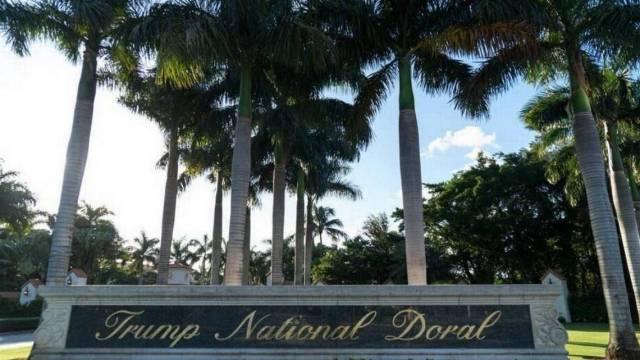 La entrada principal al Trump National Resort en Doral. Angel Valentin Washington Post