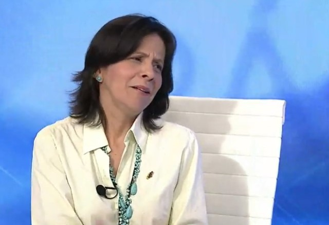Sandra Oblitas, rectora del CNE // Foto captura tv