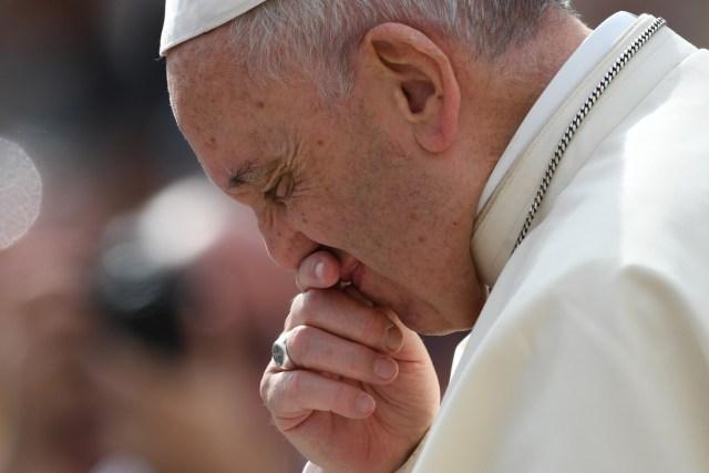 El papa Francisco durante la audiencia de este miércoles (Foto AFP)