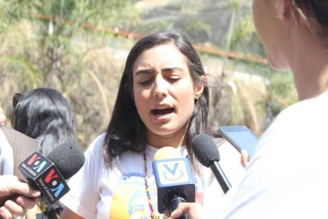 Patricia Ceballos, esposa del preso politico Daniel Ceballos declara en El Helicoide / Juan Peraza - LaPatilla.com