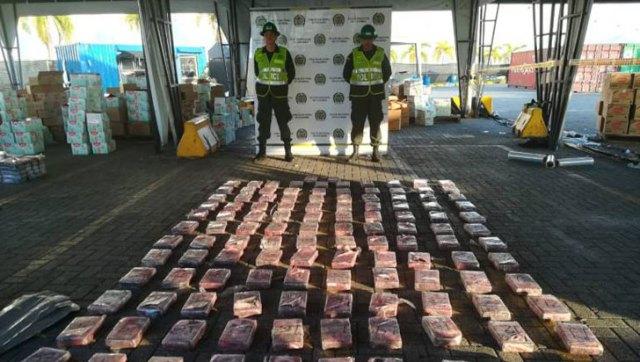 La policía de Colombia decomisó un cargamento de pañales con drogas que iban a Guatemala   Foto @croniquindio