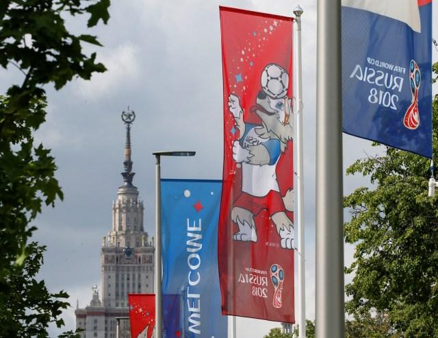La mascota oficial Zabivaka es vista en el Estadio Luzhniki en Moscú, Rusia el 13 de junio de 2018. Reuters / Gleb Garanich
