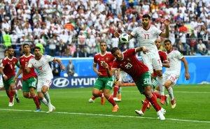 En FOTOS: Marruecos e Irán protagonizaron un encuentro con autogol incluído