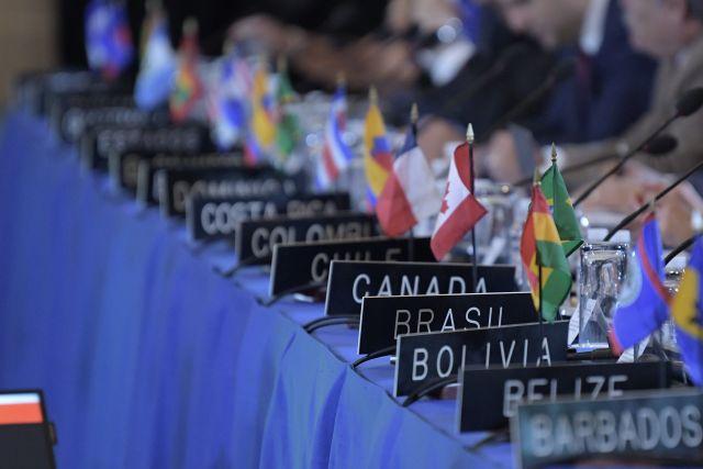 La Asambea General de la OEA pidió el cese de violencia en Nicaragua. EFE/Lenin Nolly
