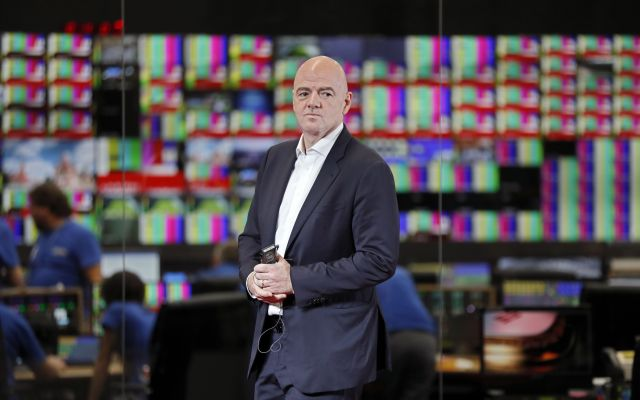 KOCH14. Moscow (Russian Federation), 09/06/2018.- FIFA President Gianni Infantino attends the official opening of the 2018 World Cup International Broadcast Centre (IBC) in Moscow, Russia, 09 June 2018. The FIFA World Cup 2018 will take place in Russia from 14 June until 15 July 2018. (Mundial de Fútbol, Abierto, Moscú, Rusia) EFE/EPA/YURI KOCHETKOV
