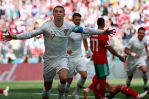 En FOTOS: Cristiano Ronaldo se deshizo de Marruecos en un partido sufrido en #Rusia2018
