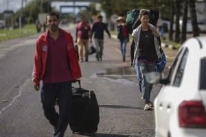 El 54% de los venezolanos que llegaron a Brasil desde 2017 dejaron el país