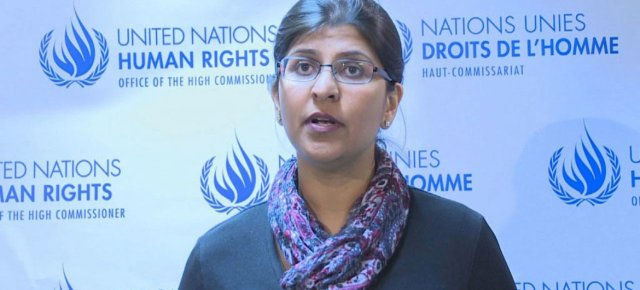Ravina Shamdasani, portavoz del Alto Comisionado de la ONU para los Derechos Humanos | Foto: @TVVnoticias