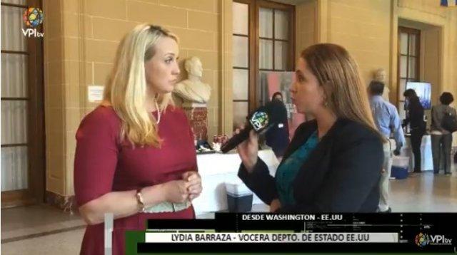 Lydia Barraza, vocera del Departamento de Estado de los Estados Unidos | Foto: @VPITV