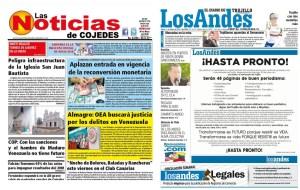 El socialismo contra la información: Dos periódicos regionales suspenden su circulación