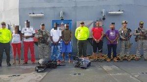 Autoridades colombianas capturan a siete integrantes del Clan del Golfo