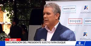 Iván Duque hace un llamado a la liberación de los presos políticos en Venezuela (Video)