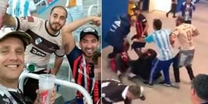 Identifican y piden deportación de argentinos que agredieron a croatas en Mundial (Video)