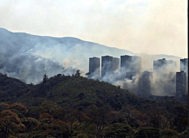 Incendio en el Zoológico de Caricuao. Foto: Twitter