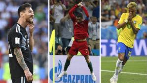 Las cuatro diferencias entre los partidos de Cristiano Ronaldo, Messi y Neymar