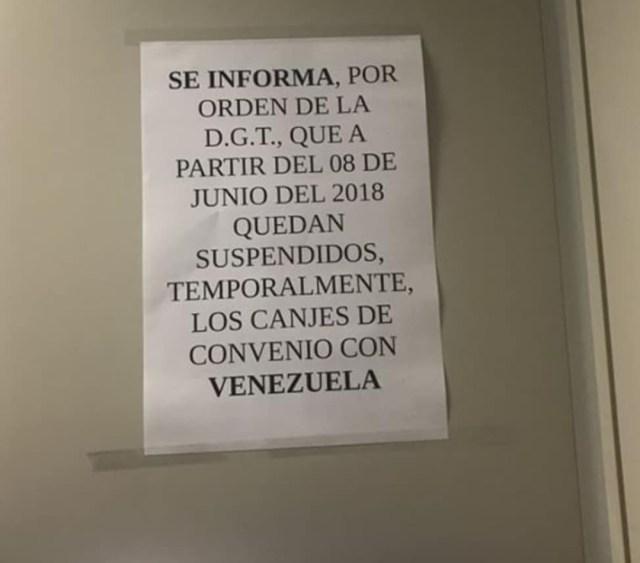 licencias venezolanas españa
