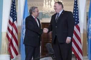 Pompeo y Guterres se reúnen tras salida de EEUU del Consejo de DDHH de la ONU