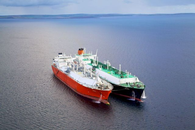 Ship to Ship Transfer (STS) in Scapa Flow, Orkney