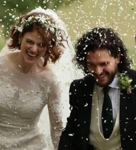 ¡Como en un cuento de hadas! Kit Harrington y Rose Leslie ya son esposos (FOTOS)