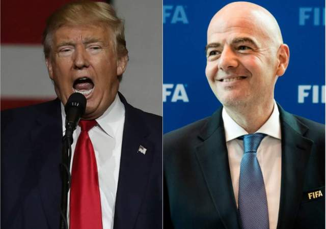 Donald Trump, presidente de los EE.UU y Gianni Infantino, presidente de la FIFA | Foto: Cortesía (The Independent)