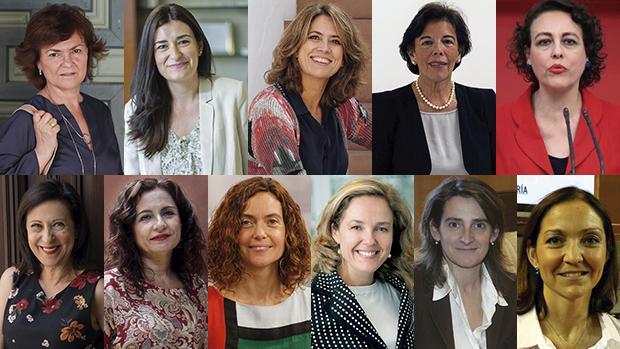 Todas las ministras designadas por Sánchez para su Gobierno - ABC