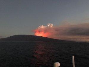 Erupciona volcán en archipiélago Galápagos y emite lava que llega al mar (Videos y fotos)
