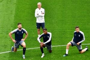 Así se prepara la selección de Francia para enfrentar a Bélgica en #Rusia2018 (Fotos)