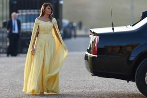 Melania Trump se viste de princesa Disney en su viaje oficial al Reino Unido (FOTOS)