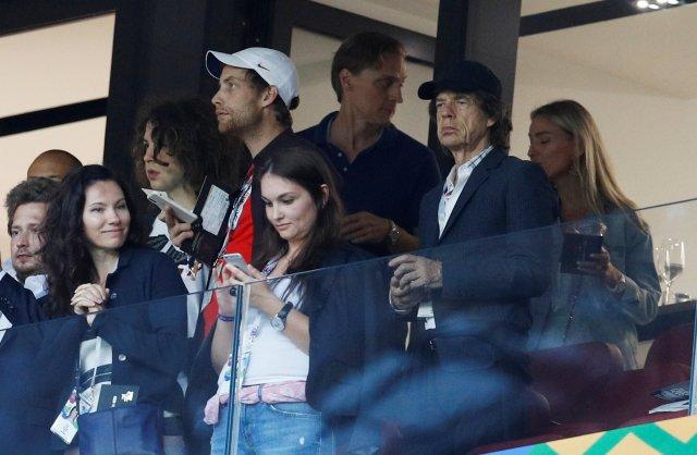 Mick Jagger estuvo presente en las semifinales de la Copa del Mundo