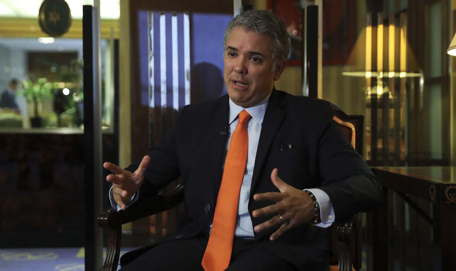 Duque pide elecciones libres para una transición democrática en Venezuela