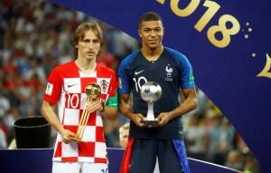 Modric se llevó el balón de oro; Mbappé fue el mejor jugador joven del Mundial