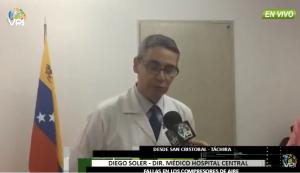 Denuncian fallas en los compresores de aire en el Hospital Central de San Cristóbal #30Jul