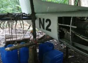 Localizan avioneta abandonada en Guatemala con posibles nexos al narcotráfico (fotos)