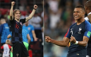 Mbappé y Modric se medirán en el campo para levantar la copa del Mundial Rusia 2018