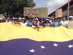Día 22 de protesta de enfermeras en Guayana recibió respaldo de otros gremios