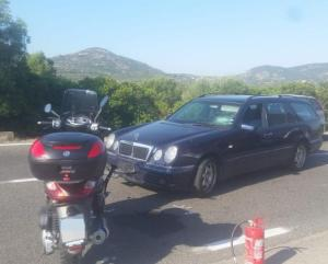George Clooney herido en accidente de moto en Italia (fotos)