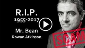 La falsa muerte de Mr. Bean que propaga un virus