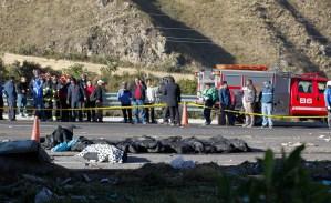 Ocho venezolanos viajaban en autobús accidentado en Ecuador, según fundación