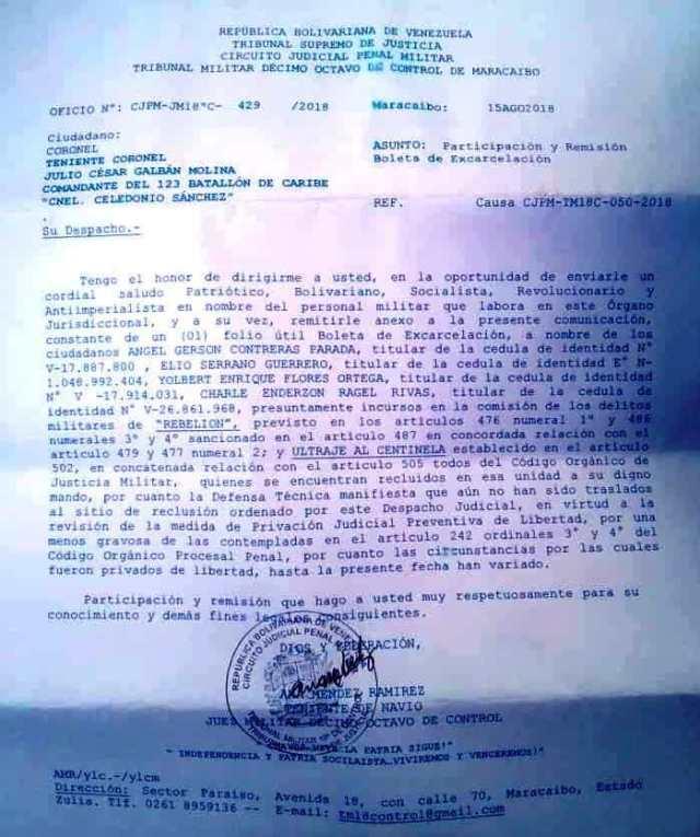 Sebastiana Barráez: Oficial desconoce orden de juez militar 1