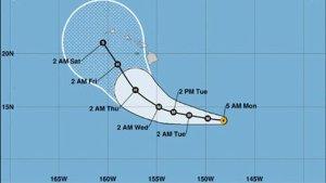 El huracán Lane, de categoría tres, se acerca al archipiélago de Hawái