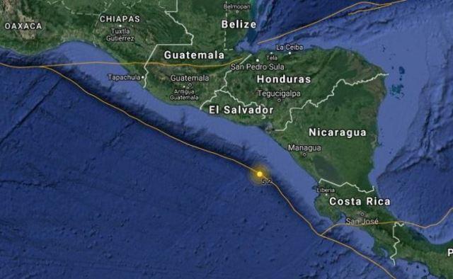 Un sismo de magnitud 5,5 sacude el Pacífico de Nicaragua sin causar daños