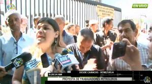 Trabajadores de Pdvsa exigen la presencia de Maduro en La Campiña #28Ago (video)