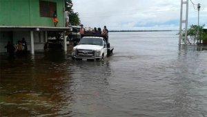 Al menos 360 familias afectadas por crecida del río Orinoco en Anzoátegui