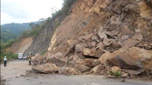 Cerrado el paso en la vía Mérida – El Vigía por derrumbes #17Ago