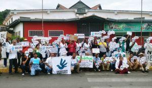 Trabajadores del sector salud protestan en Aragua por crisis humanitaria (Fotos) #15Ago
