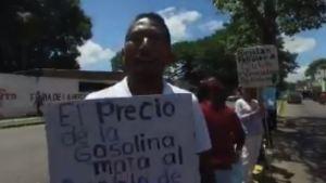 En Bolívar protestan contra el anunciado aumento de la gasolina #16Ago