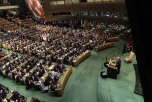 Trump pide ayuda en la ONU para restaurar la democracia en Venezuela, donde hay una tragedia humana