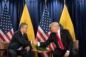 Trump augura éxito a Duque en tema drogas y celebra su denuncia a Venezuela ante la CPI