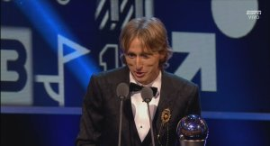 Luka Modric se impone a Cristiano Ronaldo y Mohamed Salah en el 'The Best'